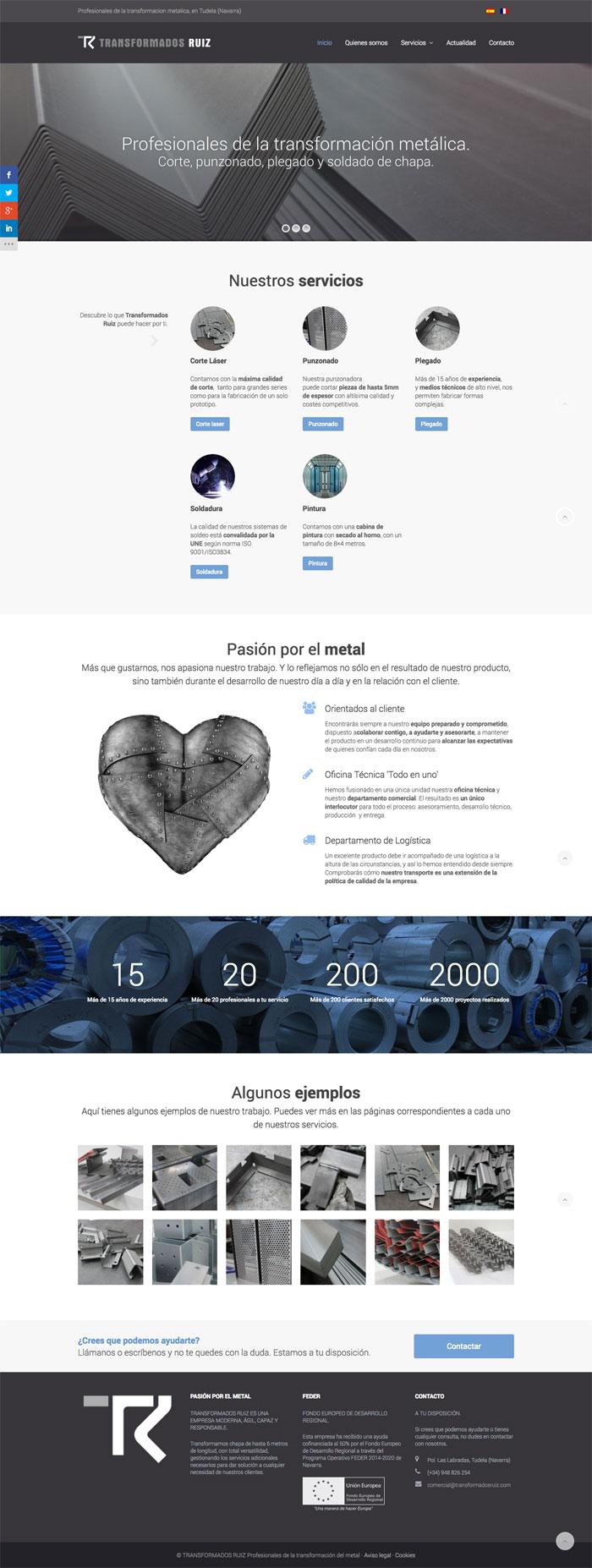 Página web Transformados Ruiz