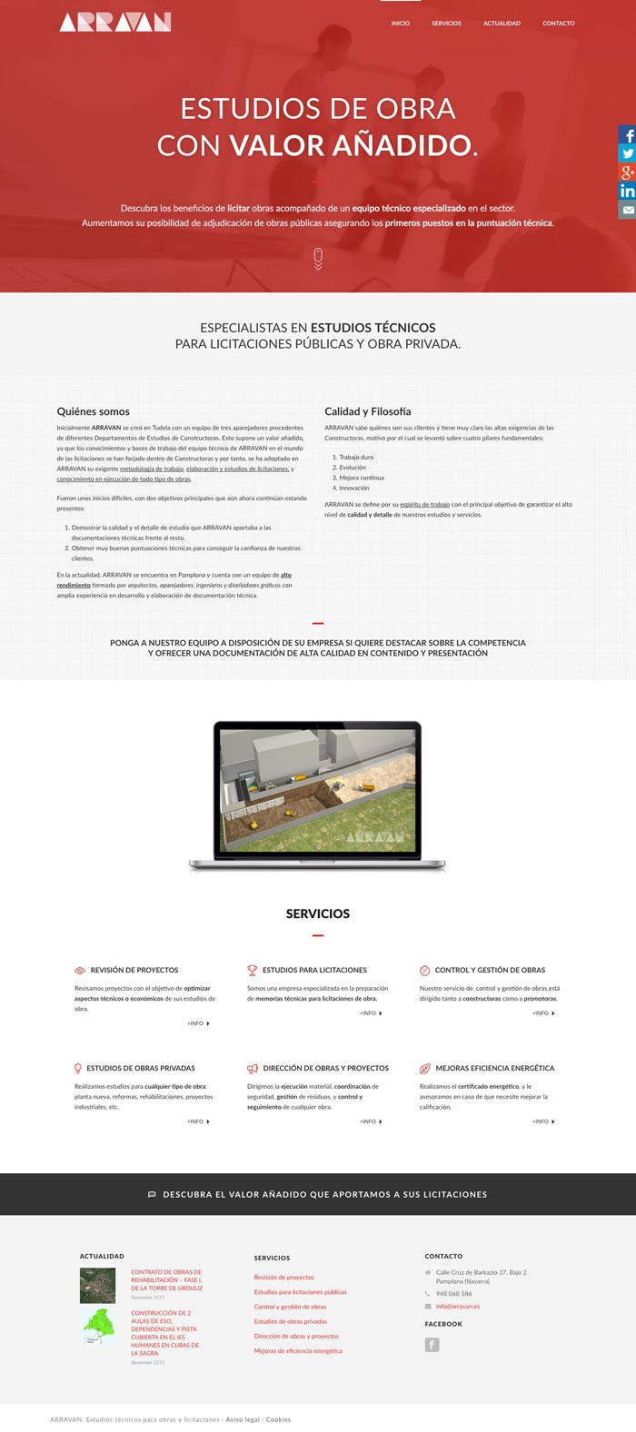 Página Web Arravan