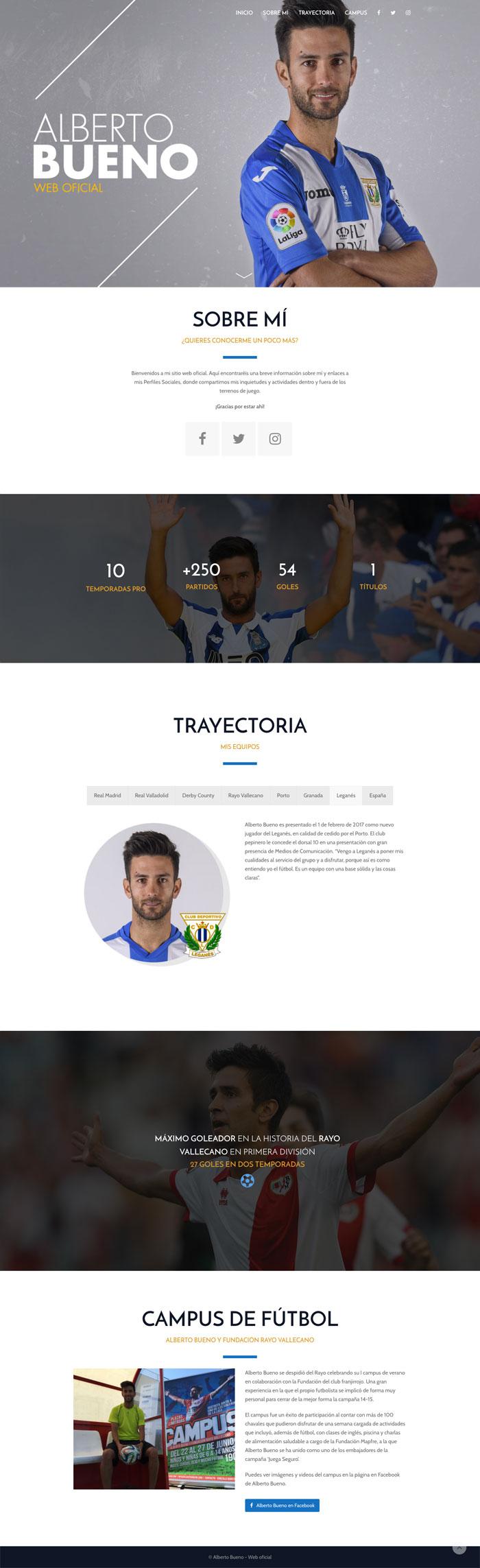 Página Web Alberto Bueno