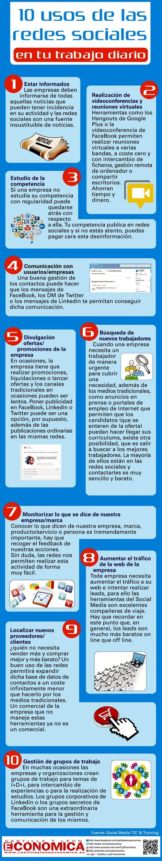infografías uso de las redes sociales trabajo