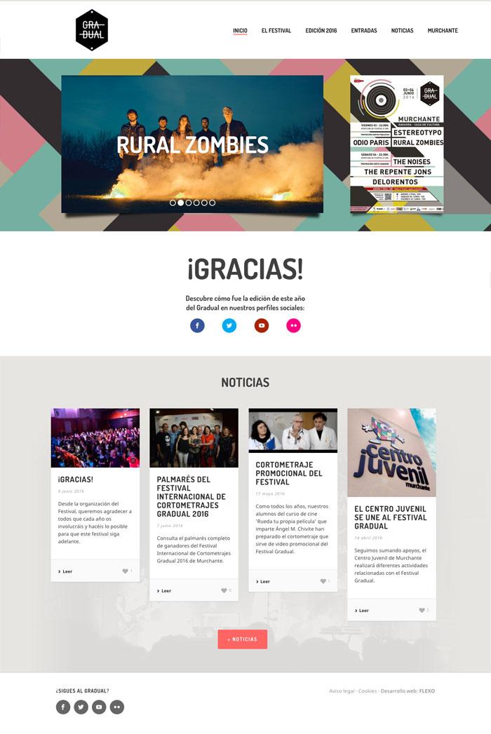 Página web Festival Gradual