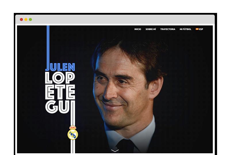 Página web oficial Julen Lopetegui