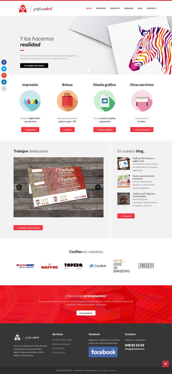 Página Web Gráficas Abril