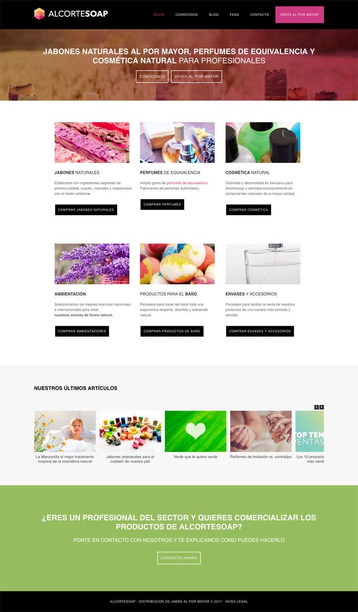 Página Web AlcorteSoap