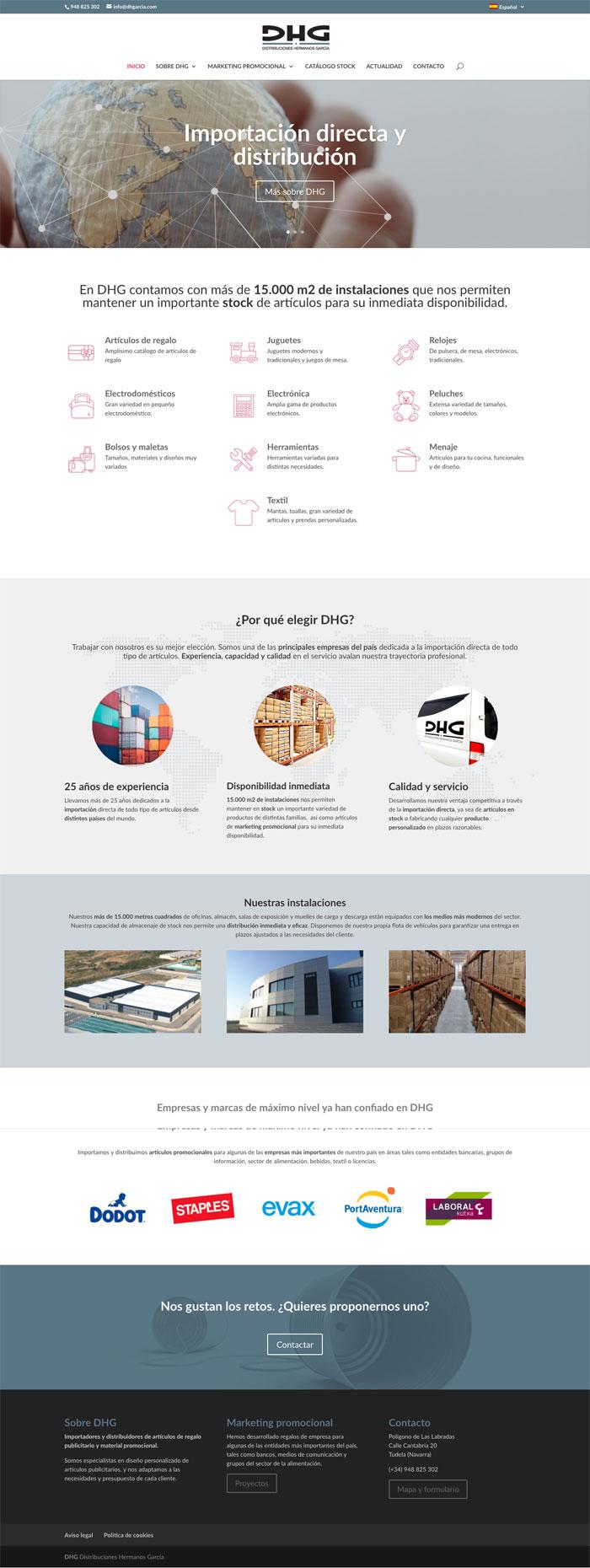 Página Web DHG