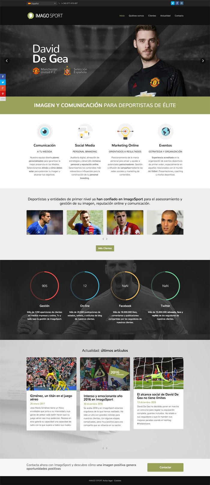 Página web Imagosport