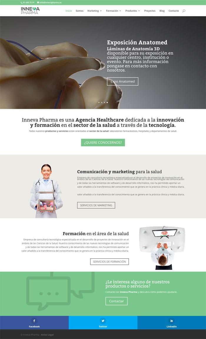Página Web Inneva Pharma