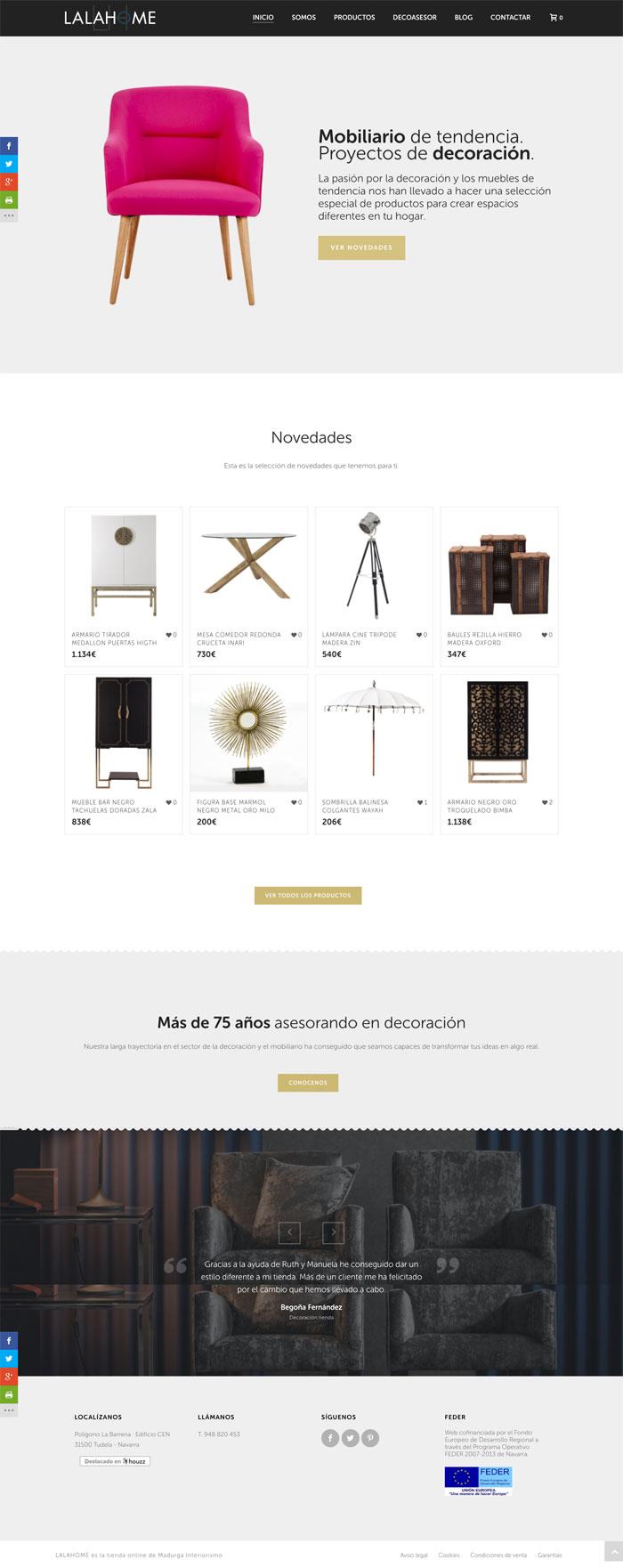 Página Web Lalahome