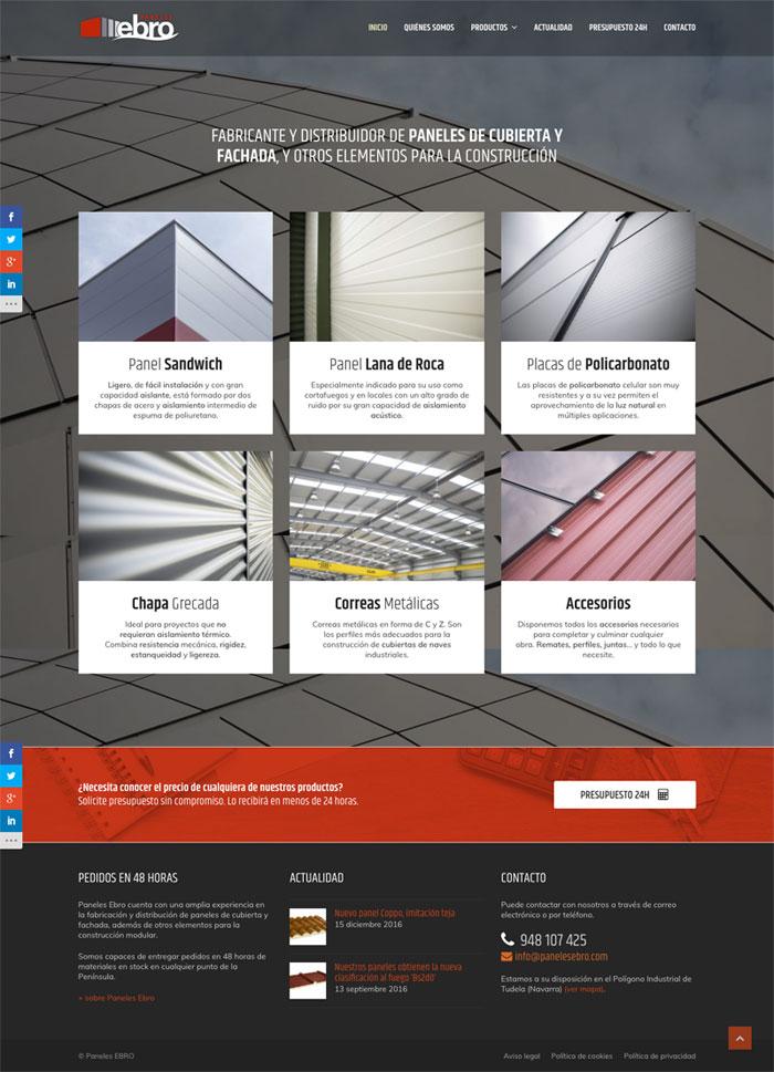 Página Web Paneles Ebro