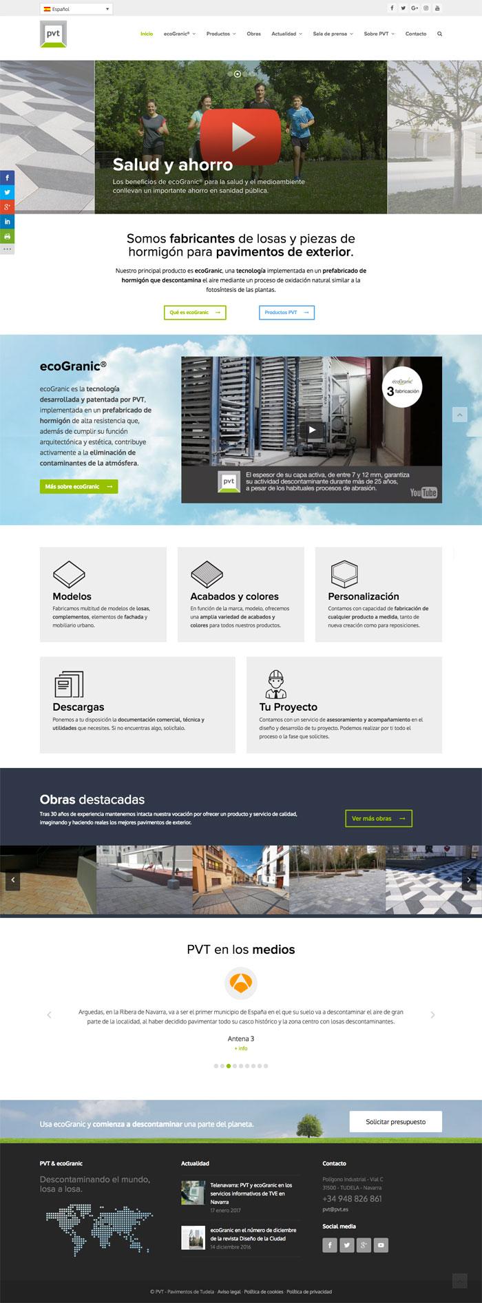 Página web PVT