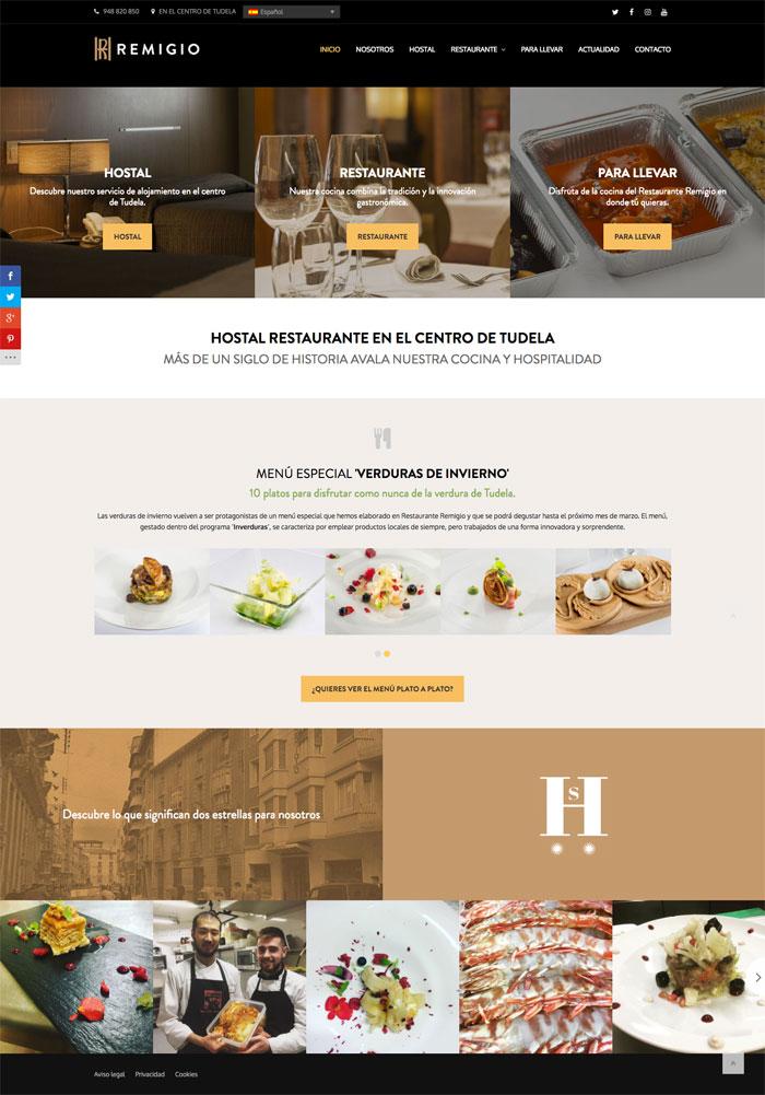 Página Web Restaurante Remigio