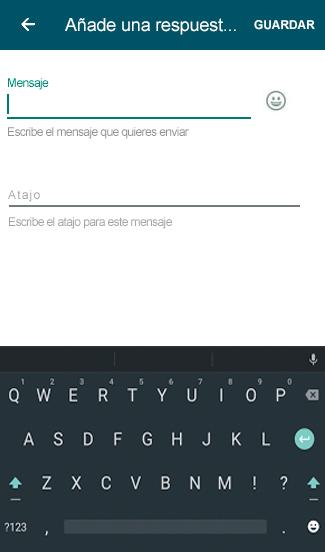 Respuestas rápidas WhatsApp Business
