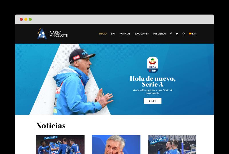 Web oficial Carlo Ancelotti