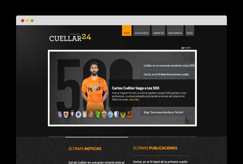 Web oficial Carlos Cuellar