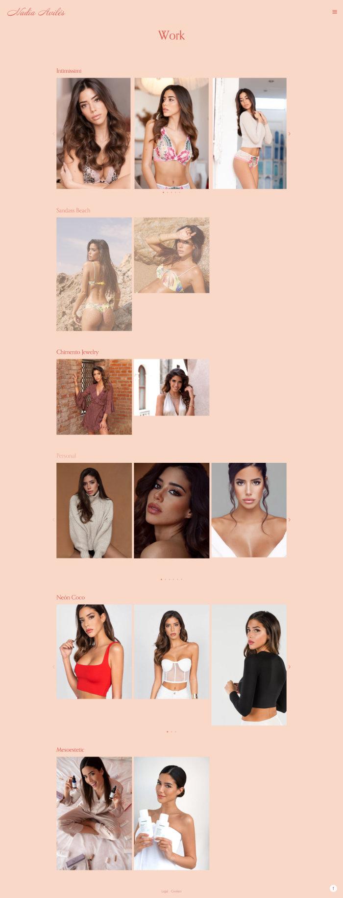Sitio web Nadia Avilés